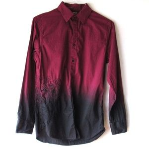 Apt. 9 Men's Embroidered Button Front Shirt